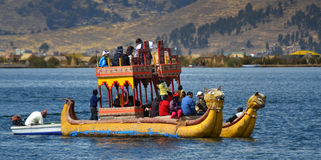 Totora on Lake Titicaca stock images