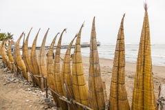 Totora-Pferde (Caballito de Totora) Stockfotografie