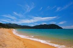 Totoranui strand Arkivbild