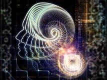 Totstandkoming van Kunstmatige intelligentie royalty-vrije illustratie