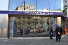 Tottenham Court Road underground station London Stock Photos