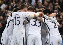Tottenham goal celebration. Players pictured during the UEFA Champions League Round of 16 game between Tottenham Hotspur and Juventus Torino held on March 7 Stock Photography