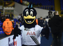 Tottenham Hotspur mascot. Tottanham's mascot pictured prior to the UEFA Europa League round of 16 game between Tottenham Hotspur and Borussia Dortmund on March royalty free stock image