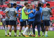 Tottenham players together. Football players pictured during preseason friendly game game between Tottenham Hotspur and Juventus Torino on August 28, 5 at Stock Photo
