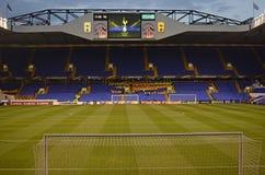 Tottenham stadion - vita Hart Lane Arkivfoton