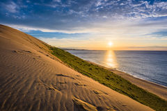 Tottori, Japan Sand Dunes. On the Sea of Japan stock image