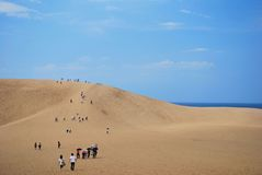 Tottori sand dunes Stock Images