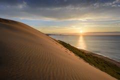 Tottori Sand Dunes. Sand dunes at Tottori, Japan along the Sea of Japan Stock Photo