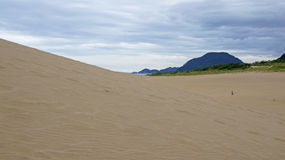 Tottori sand dunes in Japan. The largest sand dunes of Japan in Tottori prefecture royalty free stock photo