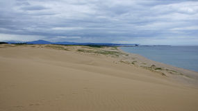 Tottori sand dunes in Japan. The largest sand dunes of Japan in Tottori prefecture royalty free stock photography