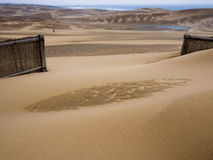 Tottori sand dunes Stock Photos