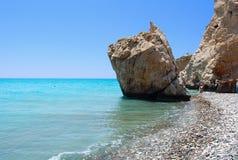 tou de roche de ramiou de PETRA d'Aphrodite photo libre de droits