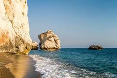 Tou Romiou της Petra ή βράχος Aphrodite, Κύπρος Στοκ Φωτογραφία