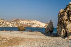 Tou Romiou της Petra ή βράχος Aphrodite, Κύπρος Στοκ Εικόνα