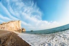 Tou Romiou, τόπος γεννήσεως της Petra Aphrodite Πάφος, Κύπρος Στοκ Εικόνες