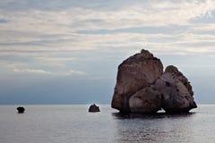 Tou Romiou, Aphrodite \ 'lieu de naissance de PETRA de s. Image stock