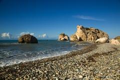 Tou Romiou di PETRA. Il Cipro Fotografia Stock