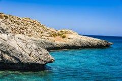 Tou Romiou, lieu de naissance de PETRA du ` s d'Aphrodite dans Paphos, Chypre photographie stock