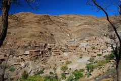 Touama nära den Tizi n'Tichkaen. Marocko Arkivfoton
