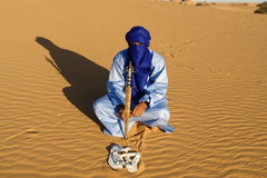 Touareg. Man of touareg in desert Stock Photography