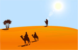 Touareg in sahara desert Royalty Free Stock Photo