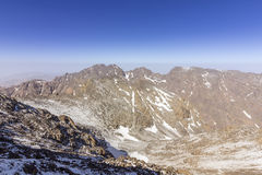 Toubkal national park, the peak whit 4,167m is the highest in the Atlas mountains and North Africa Royalty Free Stock Images