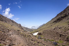 Toubkal national park, the peak whit 4,167m is the highest in the Atlas mountains and North Africa Stock Image