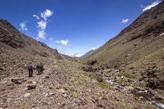 Toubkal national park, the peak whit 4,167m is the highest in the Atlas mountains and North Africa Royalty Free Stock Photography