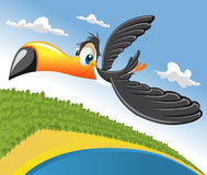 toucan的动画片 皇族释放例证