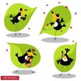 toucan的动画片 图库摄影