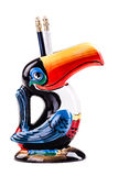 Toucan雕塑 库存照片