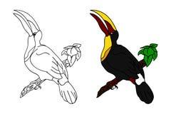 Toucan στον κλάδο (θέστε) Στοκ Εικόνα