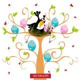 Toucan и его дети Стоковое Изображение