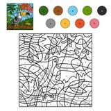 Χρώμα από τον αριθμό για τα παιδιά (toucan) Στοκ εικόνα με δικαίωμα ελεύθερης χρήσης
