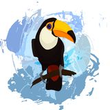 Toucan on a abstract background royalty free illustration