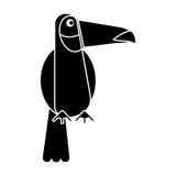 Toucan bird exotic fauna pictogram. Vector illustration eps 10 Stock Image
