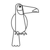 Toucan bird exotic fauna thin line. Vector illustration eps 10 Stock Photography