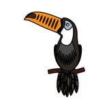 Toucan exotic bird icon Royalty Free Stock Photo