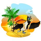 Toucan in Hawaii vector illustration