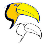 Toucan head Royalty Free Stock Images