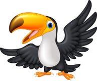 Toucan heureux d'oiseau de bande dessinée Image libre de droits