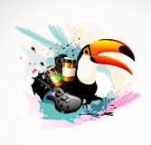Toucan illustration Stock Photography