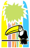 Toucan and Palm Tree Royalty Free Stock Photography
