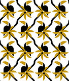 Toucan on a palm tree seamless vector pattern Royalty Free Stock Photo
