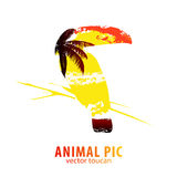 Toucan and palm trees Royalty Free Stock Image