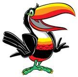 toucan tecknad filmillustration stock illustrationer