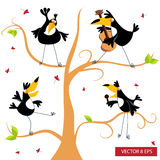 Toucan on a tree. Vector cartoon character Stock Images