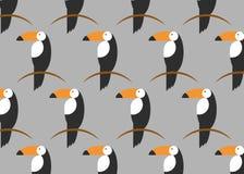 Toucans样式 背景热带向量 Toucan象, toucan传染媒介象动画片例证网的,平的样式 向量例证