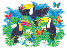 toucans stock illustrationer