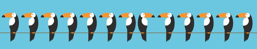 Toucans set icon. Cartoon illustration of toucan vector icon for web. Concept of animal behavioral diversity in an ironic way. Toucans set icon. Cartoon Stock Photo